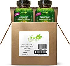 Irwin Naturals Ginkgo Smart Powerful Nootropic Brain Booster - Supports Maximum Memory, Focus & Mental Clarity with DMAE, ...