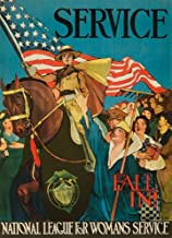 Fall In! - National League for Woman's ServicePoster (artist: Marsh, Lucile Patterson) c. 1917 64525 (16x24 SIGNED Print Master Art Print - Wall Decor Poster)