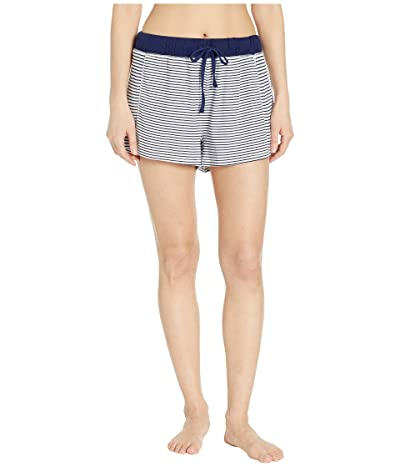 Splendid Always Sleep Shorts (Navy/White Stripe) Women