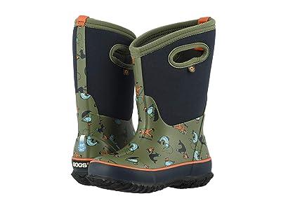 Bogs Kids Classic x David Rollyn (Toddler/Little Kid/Big Kid) (Olive Multi) Boys Shoes