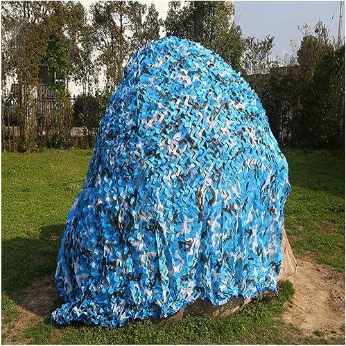 GRPBZ Océan Bleu Camouflage Net, Cryptage épaissi Double Decker Piscine Soleil Auvent Voiture Anti-Poussière Caché Haute Qualité pour Enfants Den Militaire Fan Fan Chambre Camo Net (Taille   4x5m)