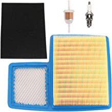 HONEYRAIN Air Filter Tune up Kit for Yamaha G16 G19 G20 G21 G22 G29 Gas Golf Cart 1996-UP 4 Cycle 301cc 357cc Engine Replace JN6-E4450-01 JN6-E445E-00 with Fuel Filter Spark Plug