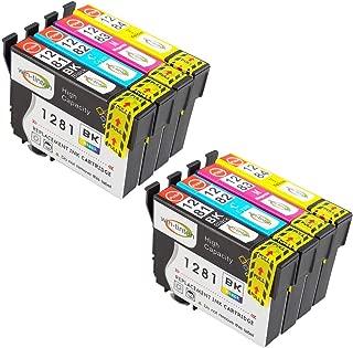6x Cartucce Comp per Epson Stylus 1281 BK BLACK//NERO per sx435w