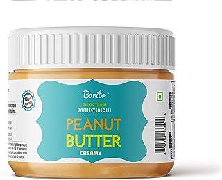 Borito All Natural Unsweetened Creamy Peanut Butter 340g