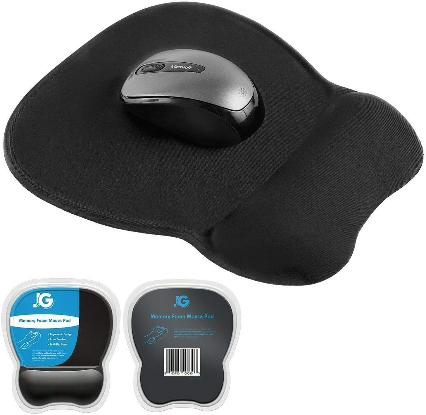 Tucson Mall Ergonomic Mouse Pad with Wrist Eliminates Rest Store Black Support