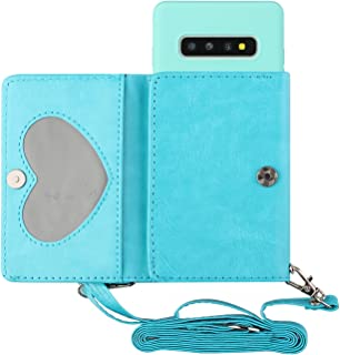 EnjoyCase Crossbody Case for Samsung Galaxy S10,Multifunctional Pu Leather Card Wallet Purse Bag Design Soft Silicone Back...