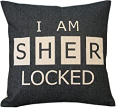 Sherlock I'm Sher Locked Throw Pillow Case Decor Cushion Covers Square 18*18 Inch Beige Cotton Blend Linen