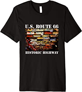 US Route 66 Historic Highway license plates used look Shirt