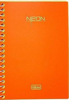 Caderneta Espiral Capa Plástica 1/8 Neon, Tilibra, Laranja, (12x15 cm), 1 unidade