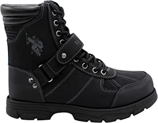U.S. Polo Assn. Mens Connor Duck Toe Padded Collar Combat Boots