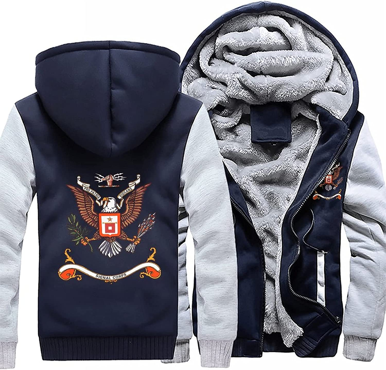 Signal Corps US Soldering Army Men's hoodie winter warm Max 71% OFF jacket jack fleece