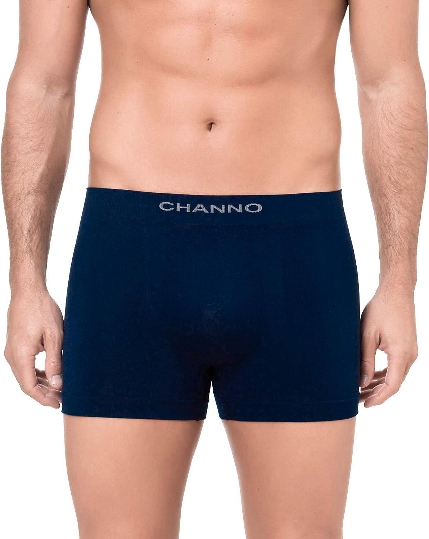 Channo Pack de Calzoncillos Boxer Licra sin Costura Color Uniforme