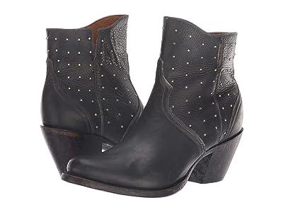Lucchese Harley (Black Stonewash) Cowboy Boots