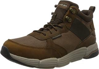 حذاء برقبة طويلة رجالي ميتكو من Skechers بني مقاس 13 US