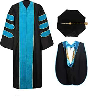 peacock blue graduation hood
