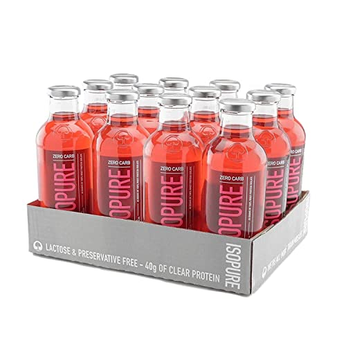 Isopure 40g Protein, Zero Carb Ready-To-Drink- Alpine Punch, 20 Ounce (Pack of 12)