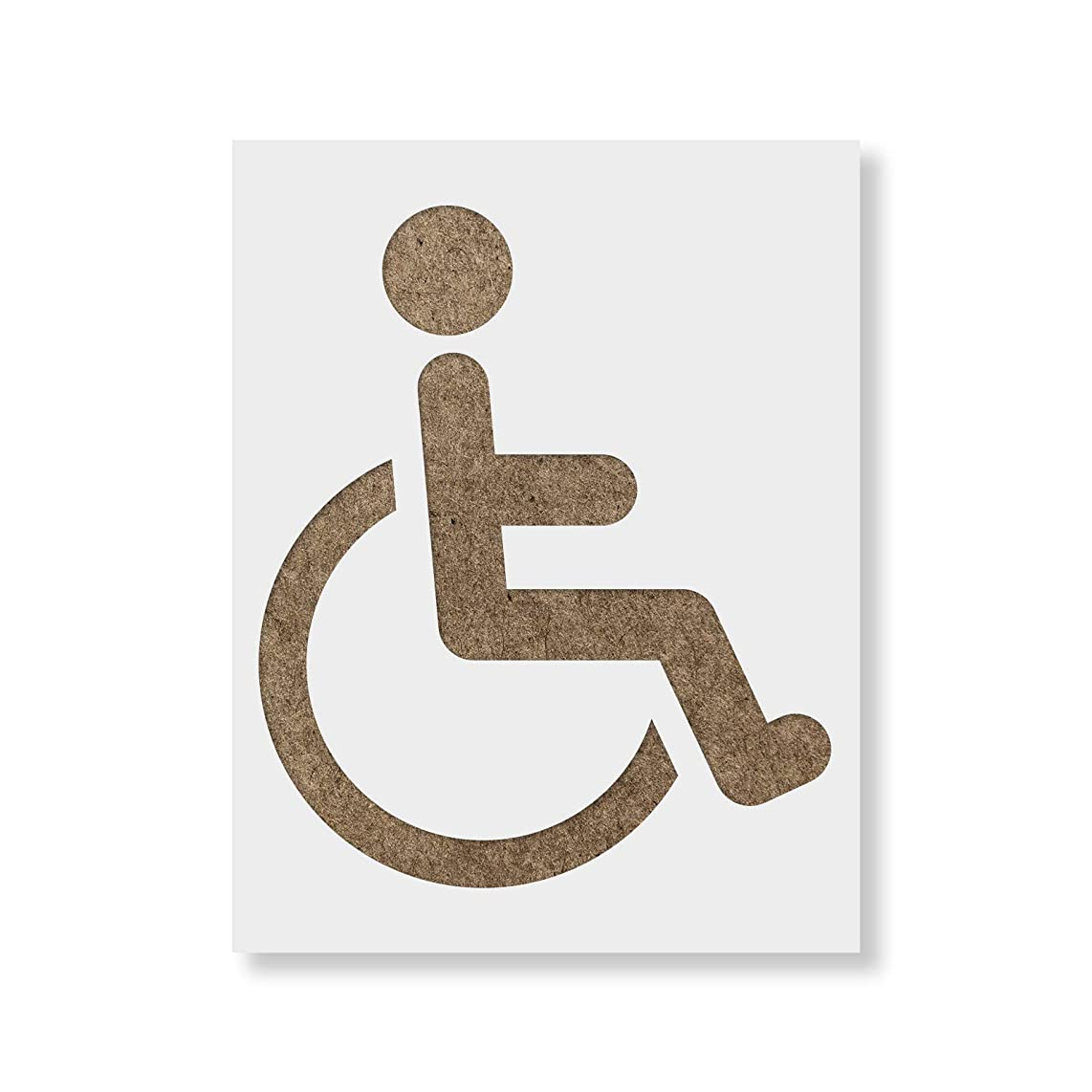 Handicap Symbol Stencil Template - Reusable Stencil with Multiple Sizes Available