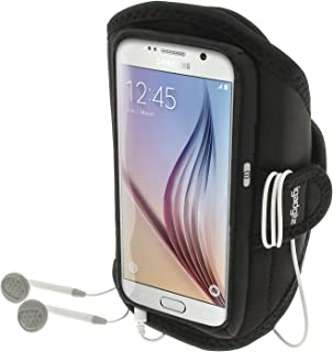 iGadgitz Water Resistant Black Sports Jogging Gym Armband for Samsung Galaxy S6 SM-G920