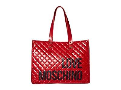LOVE Moschino Love Shopping Bag (Red) Handbags