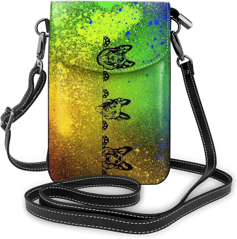 German Shepherd Max 80% OFF Women Small Crossbody Cell Bag Purse Leath Phone Max 75% OFF