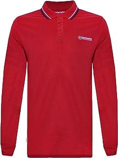 Lambretta Mens Long Sleeve Tipped Polo Shirt