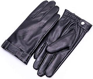 YISEVEN Men's Touchscreen Sheepskin Leather Dress Gloves