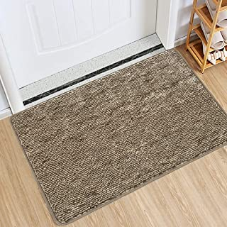 "Best Indoor Doormat Front Door Mat Non Slip Rubber Backing Super Absorbent Mud and Snow Magic Inside Dirts Trapper Mats Entrance Door Rug Shoes Scraper Machine Washable Rug Carpet - Coffee, 24"" x 36"" Review"