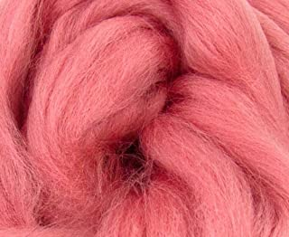 Corriedale Wool Roving One Ounce Assorted Colors for Felting and Spinning NZ (Salmon)