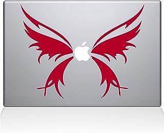 "ملصق من الفينيل مطبوع عليه The Decal Guru 1040-MAC-11A-G Butterfly Wings MacBook - 13"" MacBook Pro (2016 & Newer) - أحمر"