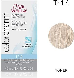 Wella Color Charm Permanent Liquid Hair Toner T-14, Silver Lady, 1.42 Fl Oz