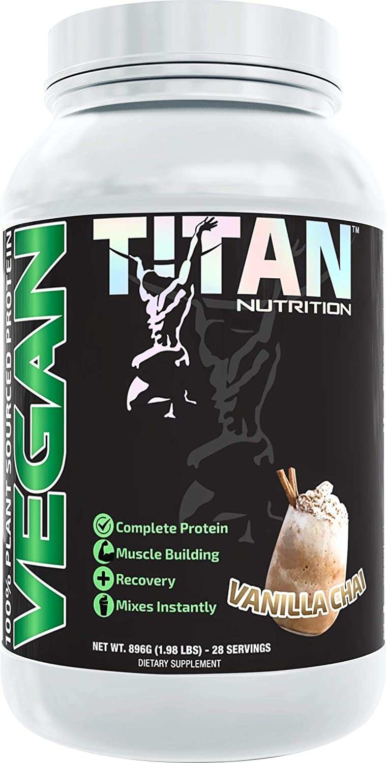 5 ☆ very popular Titan Vegan Protein- 100% Plant Based Protein from Ri Pea Brown 2021 new