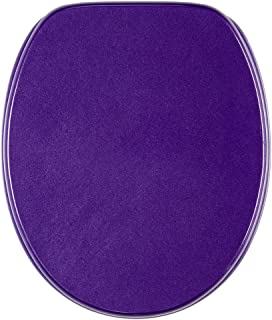 Abattant WC - Finition de haute qualité - Charnières robustes - Fixation facile - Violet Scintillement
