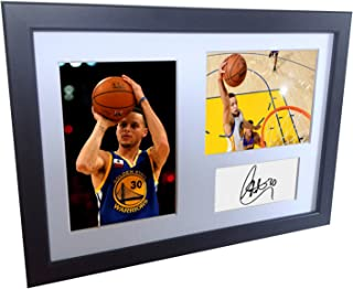 A4 Signed Stephen Curry Golden State Warriors Autographed Basketball Photo Photograph Picture Frame Gift 12