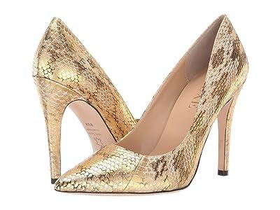 J. Renee Ellyana (Beige/Gold Snake) High Heels