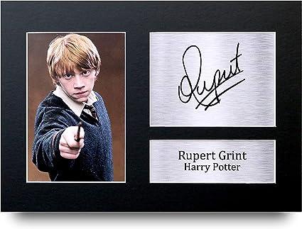 HWC Trading Rupert Grint A4 Sin Marco Regalo De Visualización De Fotos De Impresión De Imagen Impresa Autógrafo Firmado por Ron Weasley Harry Potter ...