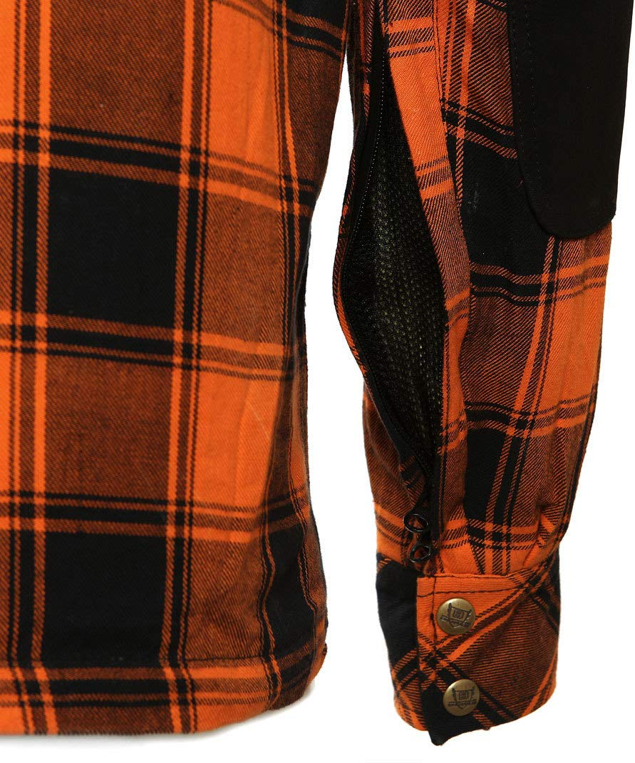 Bores Lumberjack Jacken-Hemd in Holzf/äller Optik Orange//Black