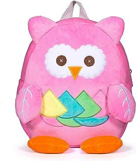 Czemo Zaino per Bambino Zainetti Asilo per Bambini 1-3 anni Scuola Materna Asilo Animale (Gufo rosa)