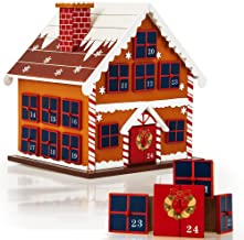 Deuba Calendrier de l'Avent - Maison en bois à remplir soi même - Décoration Noel