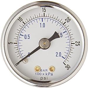WOG 1//4 NPT Lwr Mount 2 Utility Pressure Gauge OEM 30PSI GSAD2012-030UPD