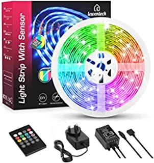 Lewentech Led Strip Lights, 16.4ft RGB Led Strip, 5050 Waterproof Strip Lights with Remote, Music Sync Color Changing Led Lights for Bedroom Kitchen Party