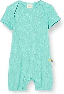 loud  proud Baby-Mädchen Short Romper Waffle Knit Organic Cotton Strampler