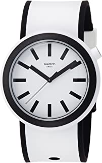 Swatch New POP Popmoving White Dial Silicone Strap Unisex Watch PNW100