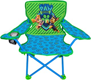 Paw Patrol Neutral Camp Chair For Kids, Portable Camping Fold N Go Chair With Carry Bag