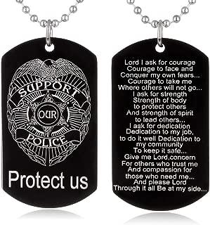 Catholic Gifts Police Officer's Prayer for Lawman Son Motheror Wife Husband Boyfriend Girlfriend Graduation Academy Gift