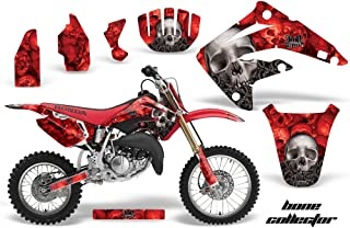 AMR Racing MX Dirt Bike Graphic Kit Sticker Decals Compatible with Honda CR85 2003-2007 - Bone Collector Red