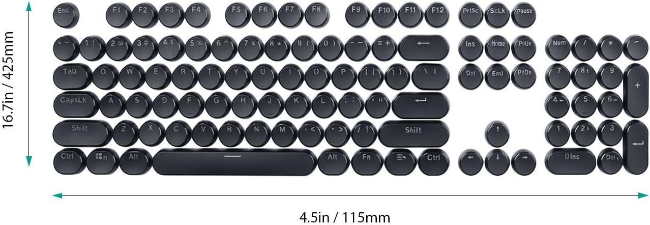 set de teclas retro pbt para teclado mecanico negro