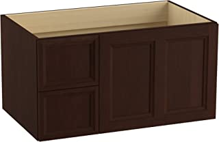 KOHLER K-99520-L-1WG Damask Wall-Hung Vanity with 1 Door and 2 Drawers on Left, 36