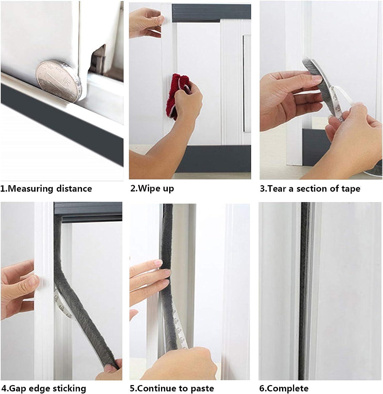 Biaungdo Self-Adhesive Brush Weather Stripping Pile Weatherstrip for Windows Doors 9//32 inch x 5//16 inch x 20 ft, Grey Wardrobe