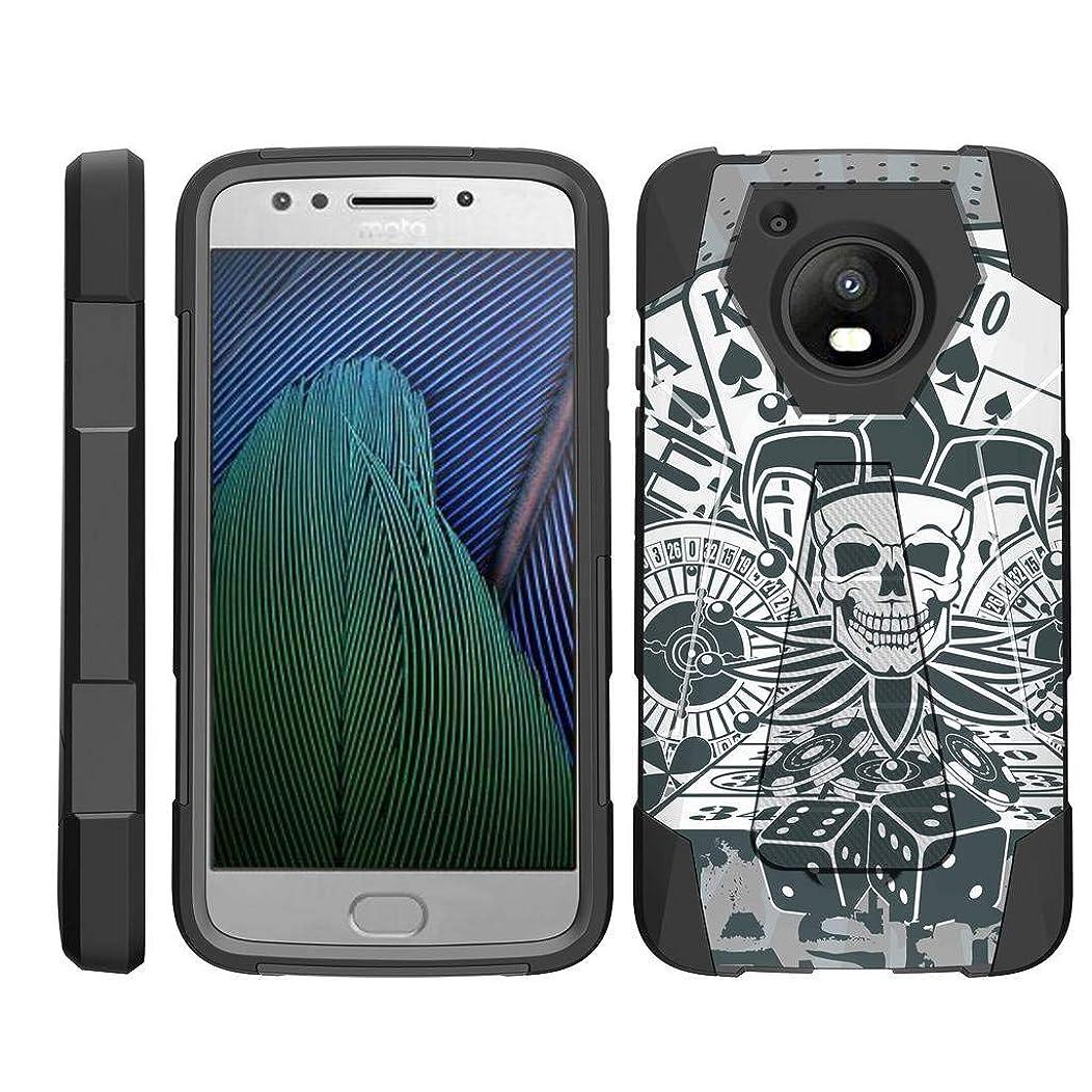 TurtleArmor   Compatible for Motorola Moto E4 Case   Moto E 4th Gen   XT1768 [Dynamic Shell] Duo Protection Hybrid Case Impact Rubber Cover Hard Kickstand Cool Designs - Joker Skull