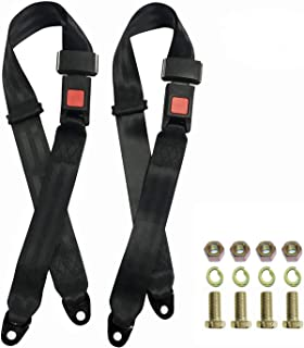 Avena 2 Point Adjustable Seat Belt Kit, Golf Cart Accessories, Double Seat Lap Seatbelt Universal for Go Kart UTV EZGO Bug...
